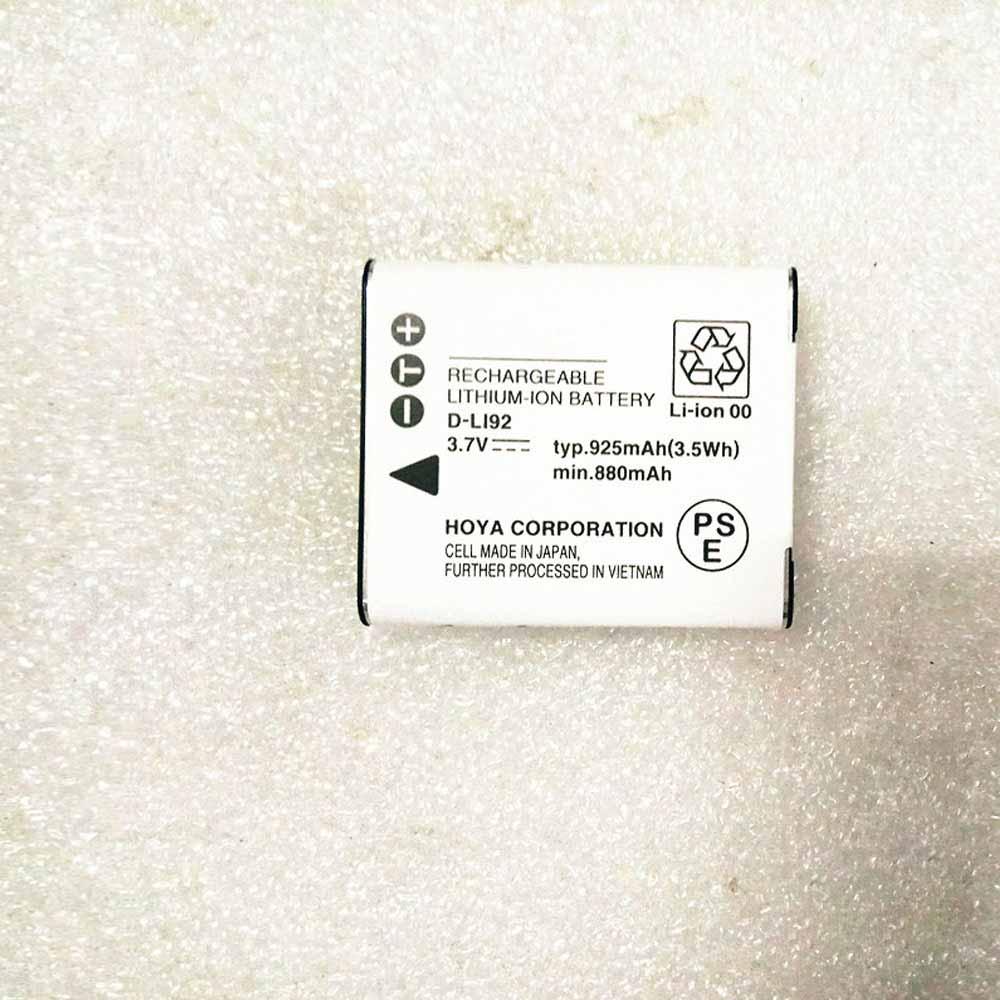 Pentax DLI92 3.7V 925mAh 3.5Wh Replacement Battery